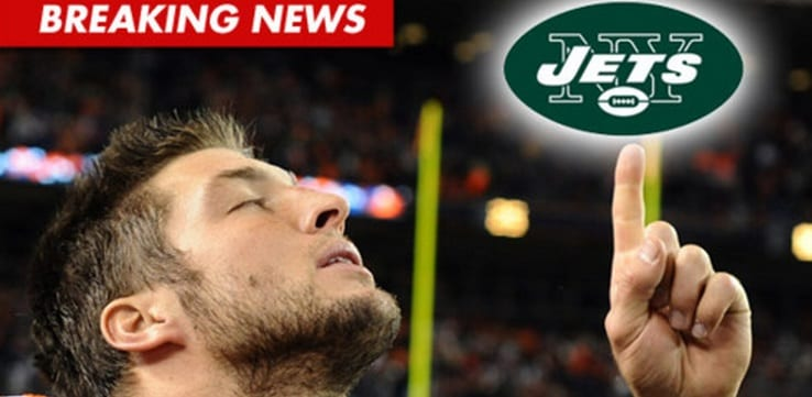 Tim Tebow Jets to New York After Trade Announced