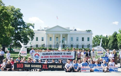 climate protest tar sands white house