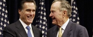 George H.W. Bush Endorses Romney