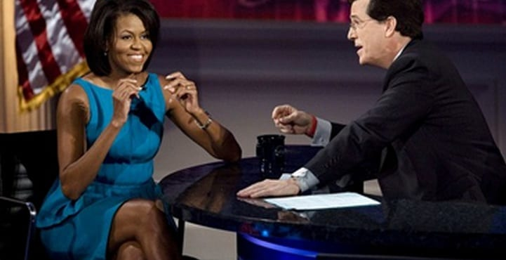 First Lady Michelle Obama Will Appear on The Colbert Show Next Week