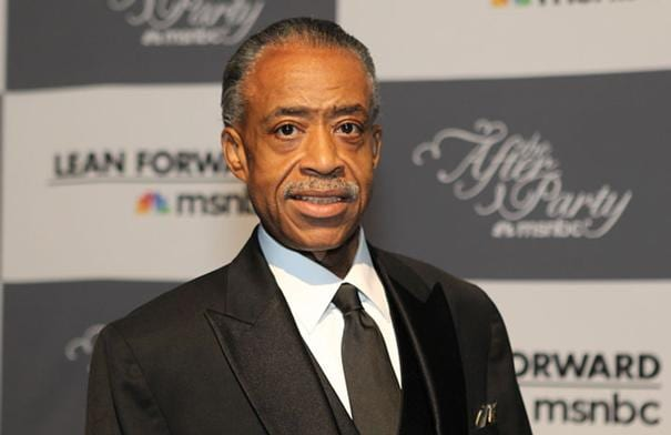 Rev. Al Sharpton arrives for the MSNBC after party