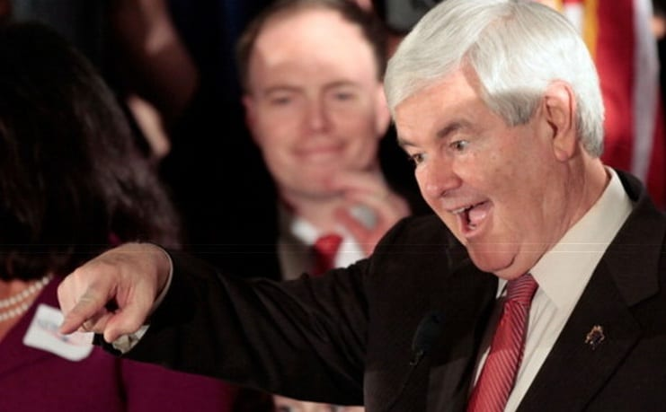 Newt Says It's Down To Him And Romney