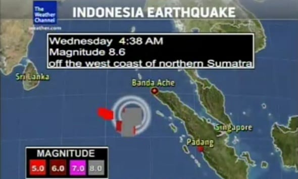 Tsunami Alert For Indian Ocean Nations After 8.6-Magnitude Quake Strikes Off Indonesia