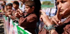 Hundreds of Palestinians declare hunger strike
