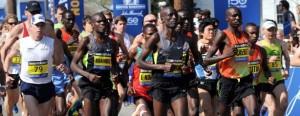 Kenyan men & women win, place, show at unseasonable Boston Marathon