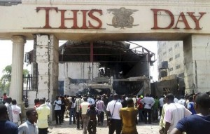 Suicide car bombs hit Nigerian newspaper offices