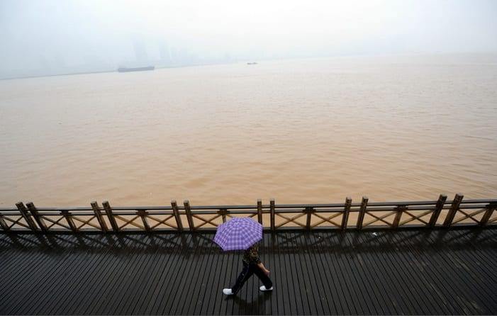 China's Ganjiang River Close To Flooding