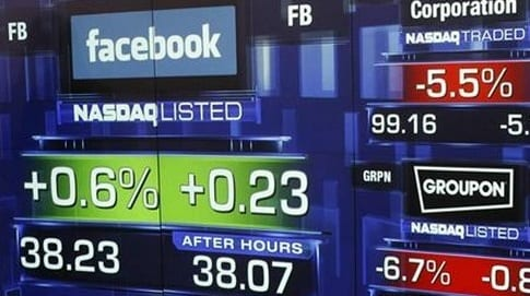 Facebook Stock Closes Down