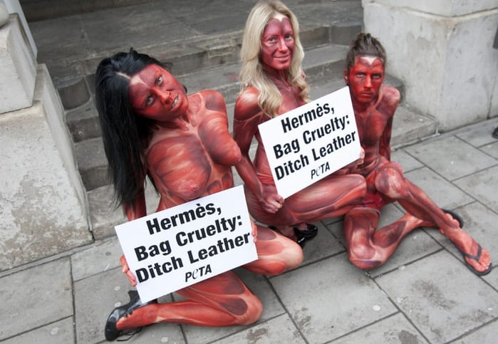 PETA Leather Protest In London