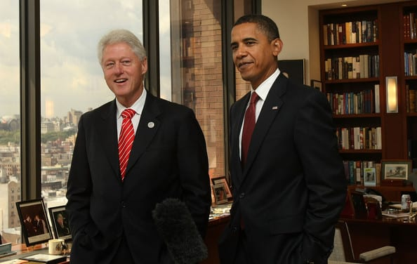 Former President Clinton Joins Presisdent Obama Tonight In NYC