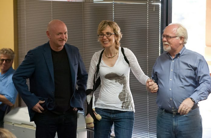 Gabrielle Giffords and Mark Kelly Visit Ron Barber Phone Bank