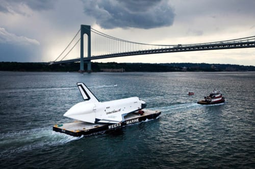 In Focus: Shuttles Sail to Their New Homes