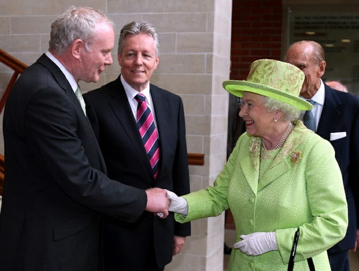 Queen Elizabeth, Ex-IRA Commander Shake Hands