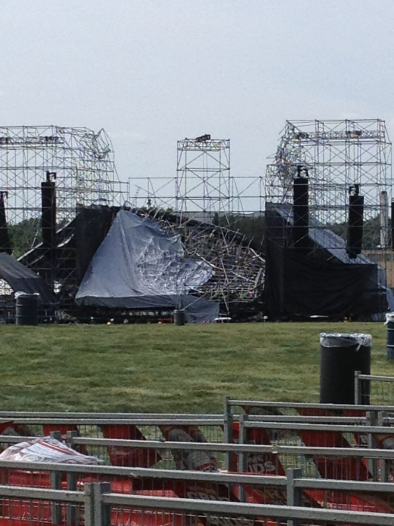 Stage Collapses Ahead Of Radiohead Show In Toronto