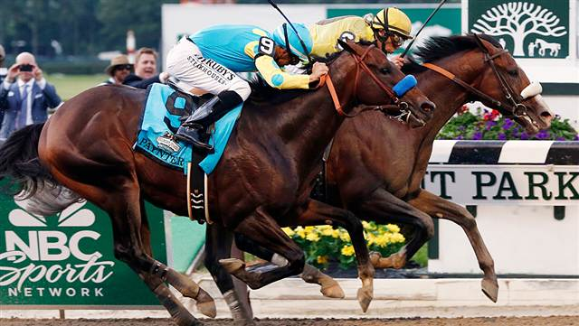 Union Rags Runs Past Paynter To Win Belmont Stakes