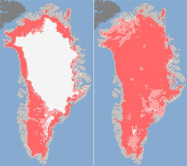 Heat Dome Linked to Greenlands Biggest Melt in 30 Years