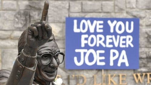 Penn State Removes Statue Of Joe Paterno
