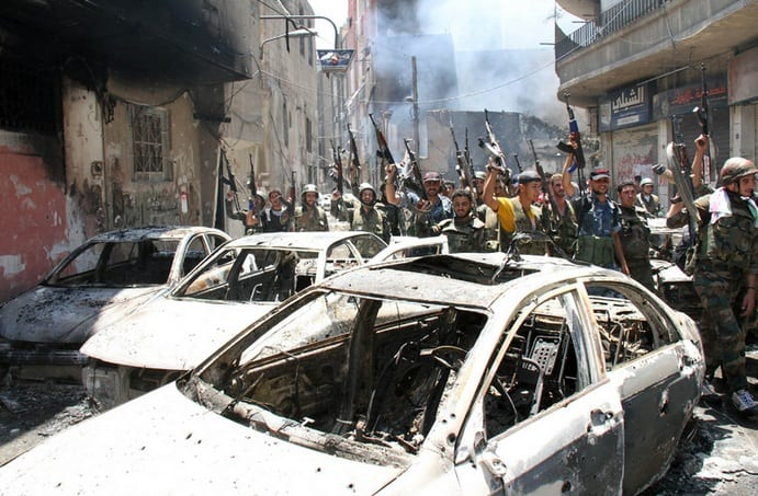 Syrian Army Push Rebels Out Of Midan Damascus