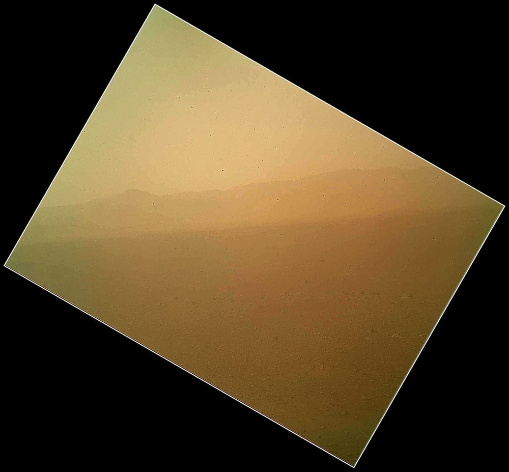 NASA's Mars Curiosity Rover Sends First Colour Images Back To Earth