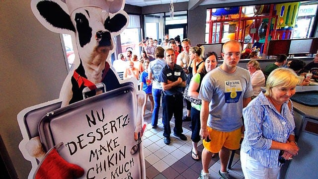 Supporters Flock To Chick-Fil-A During National Appreciation Day