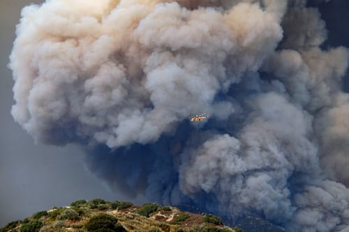 California Wildfire Prompts Evacuation Of Angeles National Forest