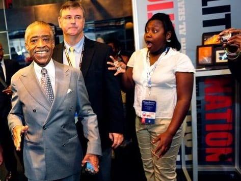 From PoliticsNation Rev. Al Sharpton Surprised Fans At The DNC In Charlotte Yesterday