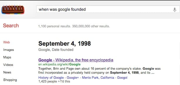 Google Celebrates Its 14th Birthday With A Doodle