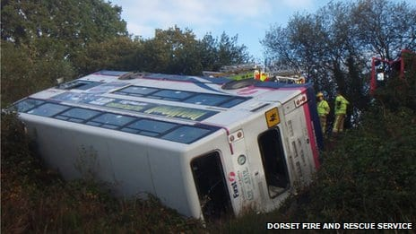 Bus Carrying 56 Students Crashes Rolls Into A Field In England