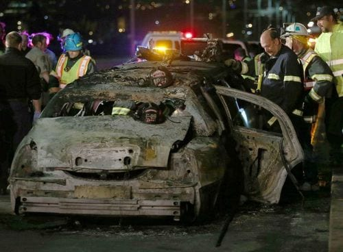 Bride, 4 Others Die In Limo Fire On A California Bridge