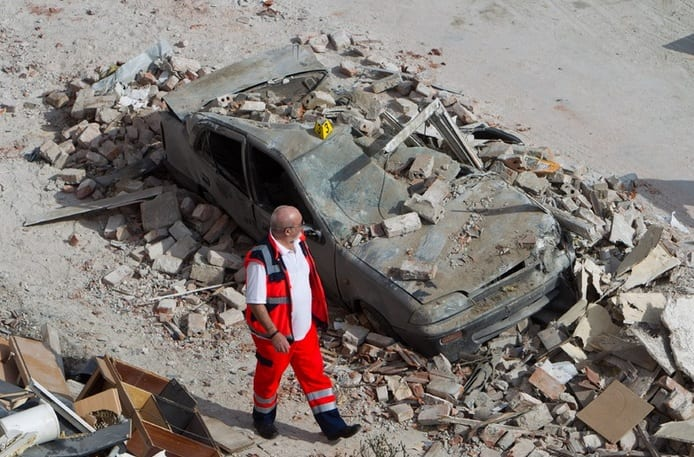 Explosion Destroys Homes in Zerbst, Germany