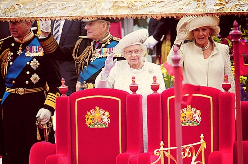 Queen Elizabeth Celebrates Diamond Jubilee Honored With a Jubilee Flotilla