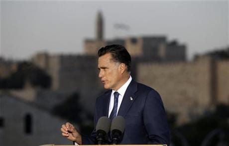 Romney Courts Donors, Raises Cash In Israel (Palestinian Leaders-Comments Racist And Out Of Touch)