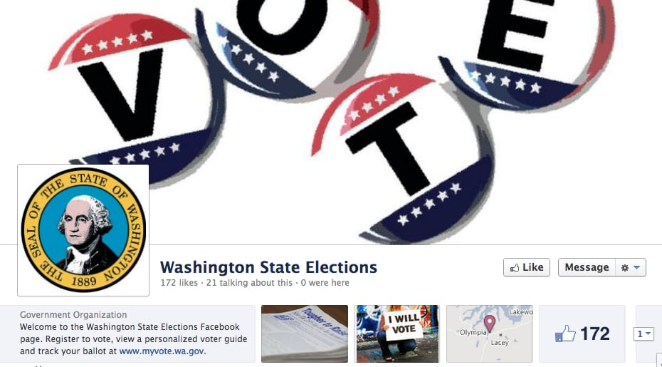 Washington Sate To Allow Facebook Voter Registration