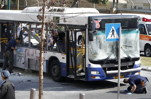 'Terrorist' Bus Blast In Tel Aviv Leaves At Least 21 Injured