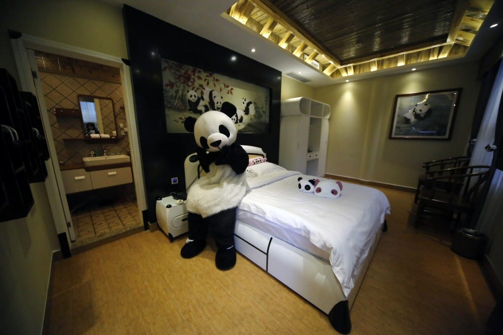 Panda Themed Hotel Opens In China