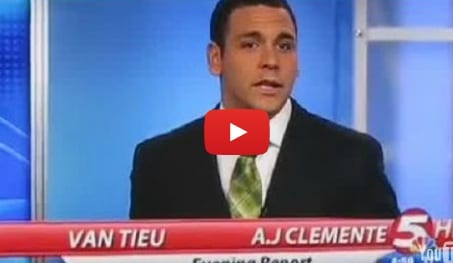 NBC Anchor A.J. Clemente Sums Up His First Day On The Job With His First Words On Air 'Fucking Shit'