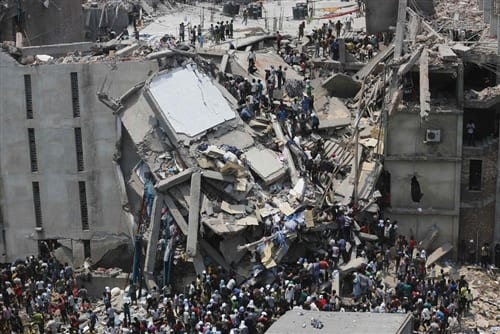 Thousands Trapped In Bangladeshi Building Collapse