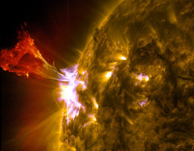 The three biggest solar flares of the year all happened in a 24 hour period yesterday
