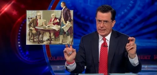 'That Means The Constitution Is Gay' A Confused Colbert Laments Supreme Court Ruling On DOMA