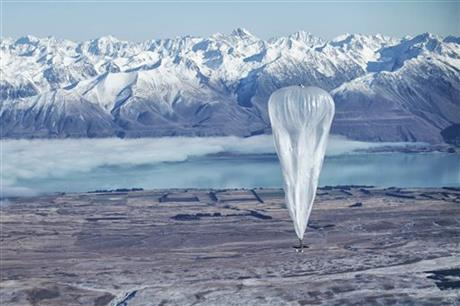 Google launches balloons in goal to provide Internet world wide