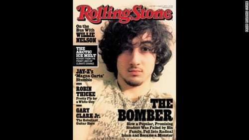 Rolling Stone cover image of Boston bombing suspect stirs controversy
