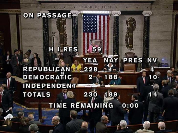 HOUSE PASSES GOVERNMENT SPENDING BILL THAT DEFUNDS OBAMACARE