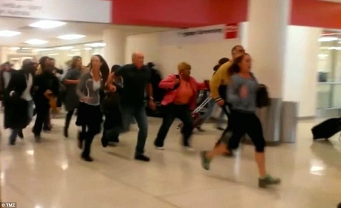 VIDEO Caos At LAX Airport During Shooting Evacuation