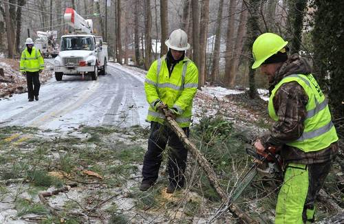 US Southeast wakes up to power outages from winter storm