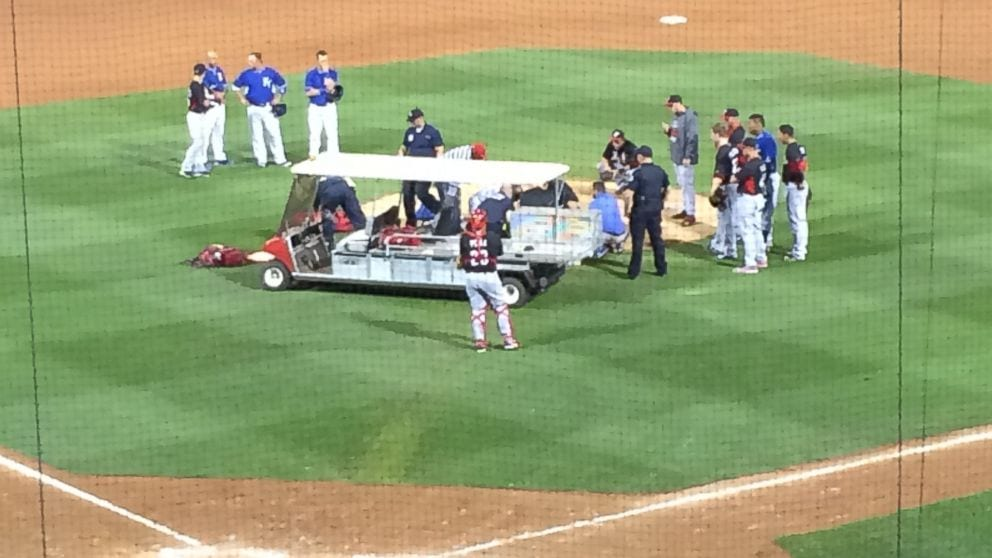 Aroldis Chapman struck in head by line drive game cancelled