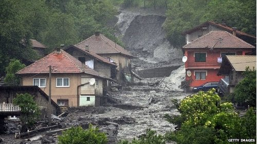 Bosnia and Serbia emergency after 'worst ever' floods