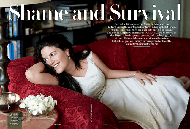 Monica Lewinsky Writes About Her Affair with President Clinton
