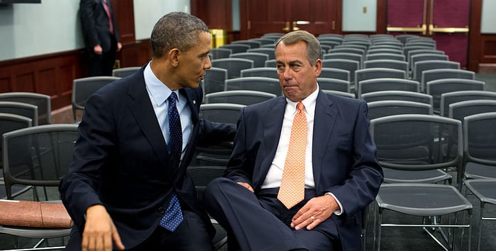 President Obama calls threats from House Speaker John Boehner R Ohio to sue him over use of executive orders a stunt