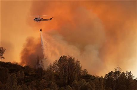 Fast moving fire burns at 3800 acres in California's Napa County