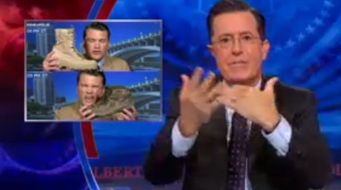 Colbert Report No Boots on the Ground in Iraq VIDEO